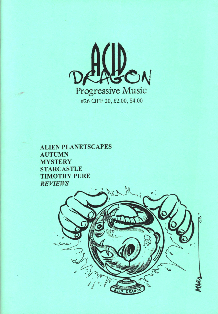 Acid Dragon: Progressive Music Issue Number 26. Thierry Sportouche.