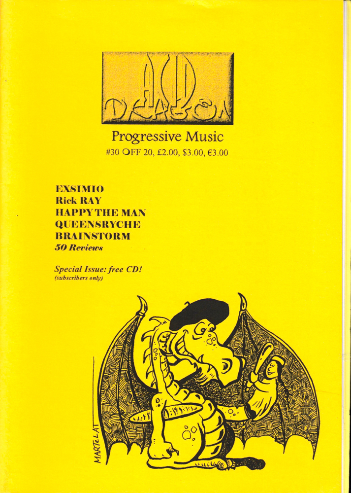Acid Dragon: Progressive Music Issue Number 30. Thierry Sportouche.