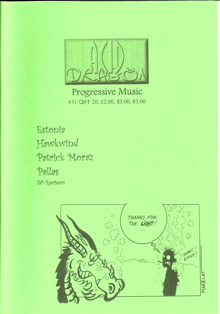 Acid Dragon: Progressive Music Issue Number 31. Thierry Sportouche.