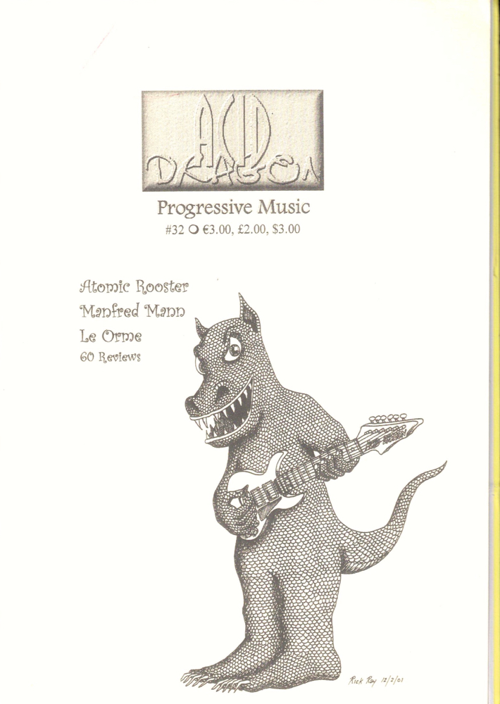 Acid Dragon: Progressive Music Issue Number 32. Thierry Sportouche.