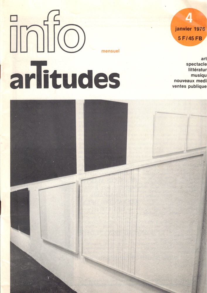Artitudes International January, 1976. Francois Pluchart.