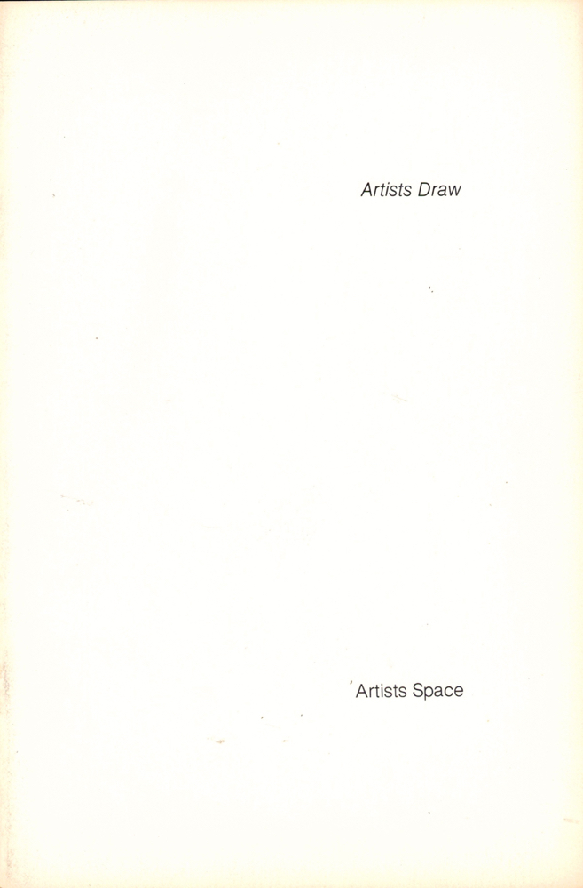 Artists Draw. Donald Sultan.