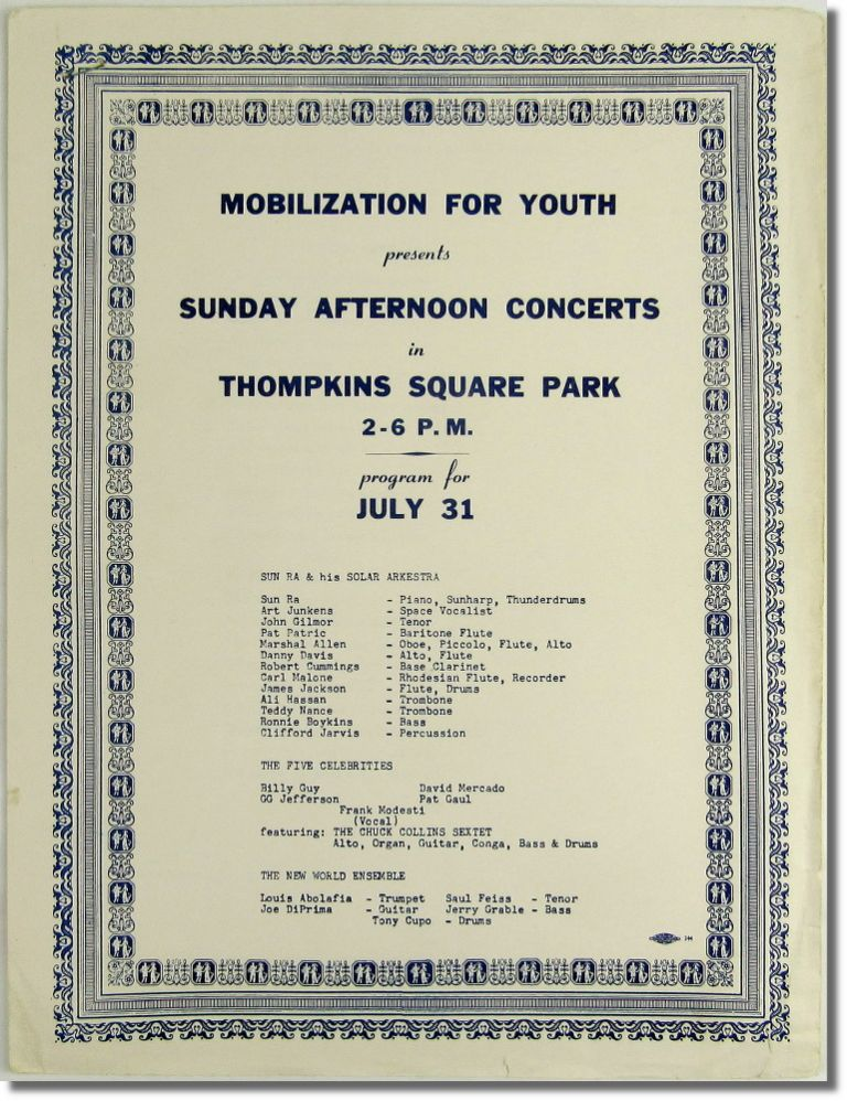Mobilization for Youth Presents Sunday Afternoon Concerts in Thompson Square Park. Sun Ra.
