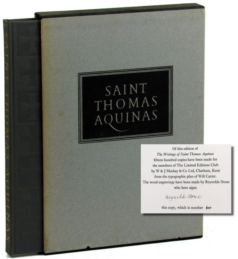 Saint Thomas Aquinas: Selections From His Work. George Shuster.