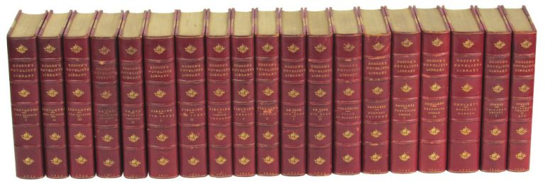 Roscoe's Novelists' Library [19 Volumes]. George Cruikshank.
