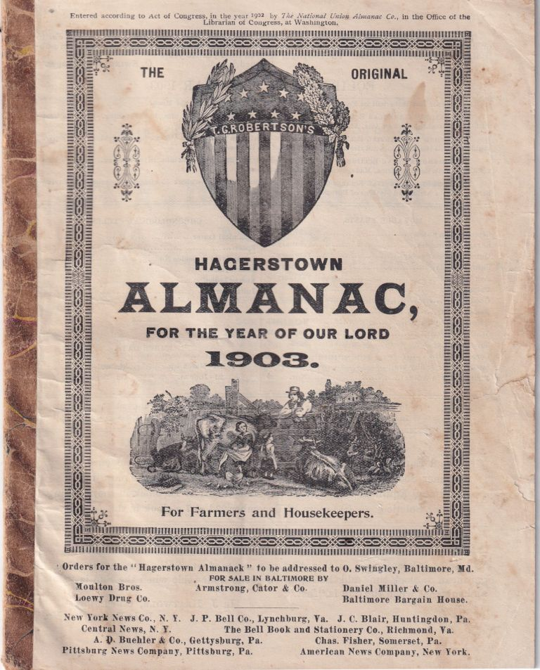 Hagerstown Almanac, For the Year of Our Lord 1903. National Union Almanac Company.
