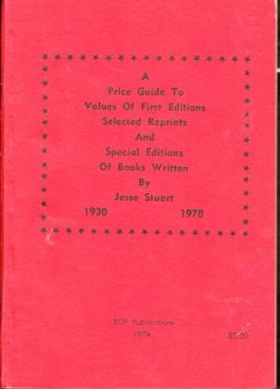 Price Guide to Values of First Selected Reprints and Special Editions of Books Written By...