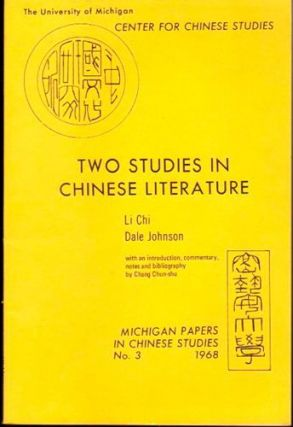 Two Studies in Chinese Literature. Li Chi, Dale Johnson