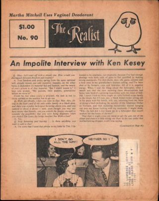 The Realist No. 90, : An Impolite Interview With Ken Kesey. Paul Krassner.