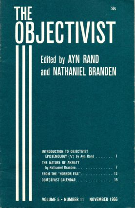 The Objectivist Volume 5, Number 11 November, 1966. Ayn Rand, Nathaniel Branden