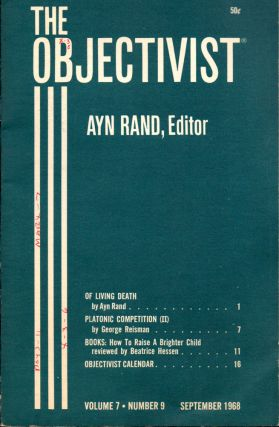 The Objectivist Volume 7, Number 9 September, 1968. Ayn Rand, Nathaniel Branden