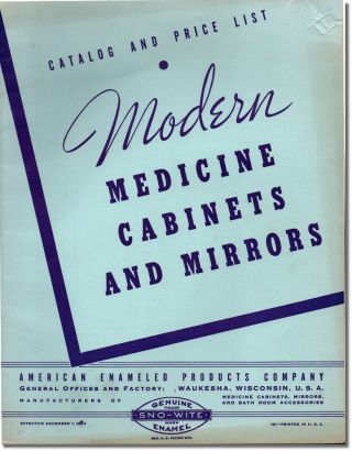 Modern Medicine Cabinets and Mirrors. American Enameled Products Company