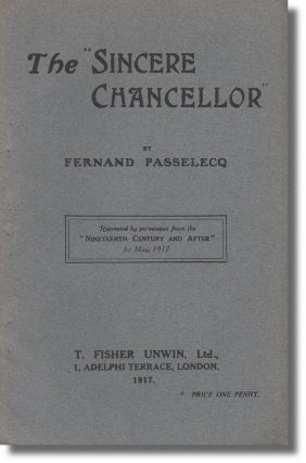 "The ""Sincere Chancellor"" Fernand Passelecq."