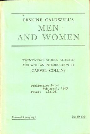 Men and Women [Uncorrected Proof of the British Edition]. Erskine Caldwell