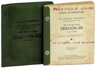 Manual of Instructions for Operation, Maintenance and Rigging of the De Havilland Dragon Six...