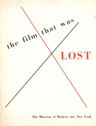 The Film That Was Lost. Richard Griffith