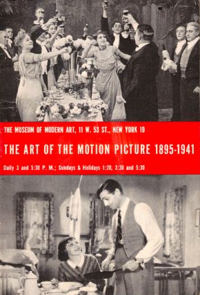 The Art of the Motion Picture 1895-1941. Iris Barry