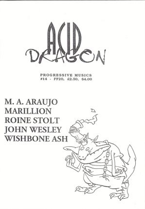 Acid Dragon: Progressive Musics Issue Number 14. Andre-Francois Ruaud, Thierry Sportouche.