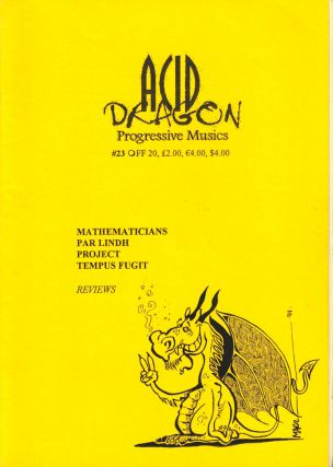 Acid Dragon: Progressive Musics Issue Number 23. Thierry Sportouche