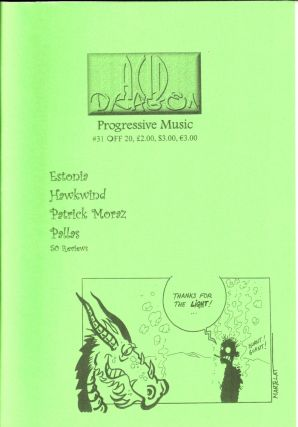 Acid Dragon: Progressive Music Issue Number 31. Thierry Sportouche