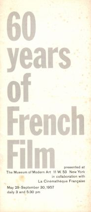 60 Years of French Film. Richard Griffith