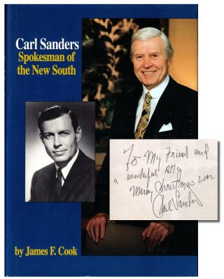 Carl Sanders: Spokesman of the New South. James F. Cook